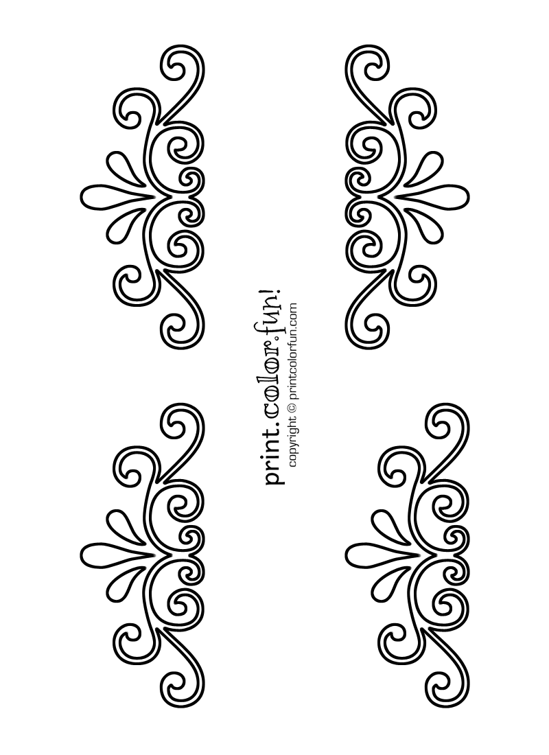 Swirl and flourish stencils   Print. Color. Fun! Free printables ...