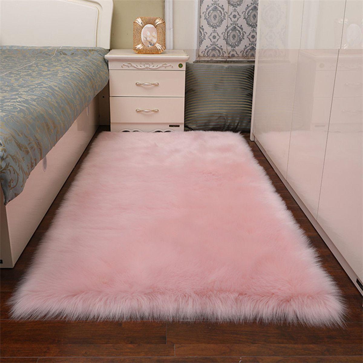 Luxury Supper Soft Faux Sheepskin Fur Area Rugs Wo