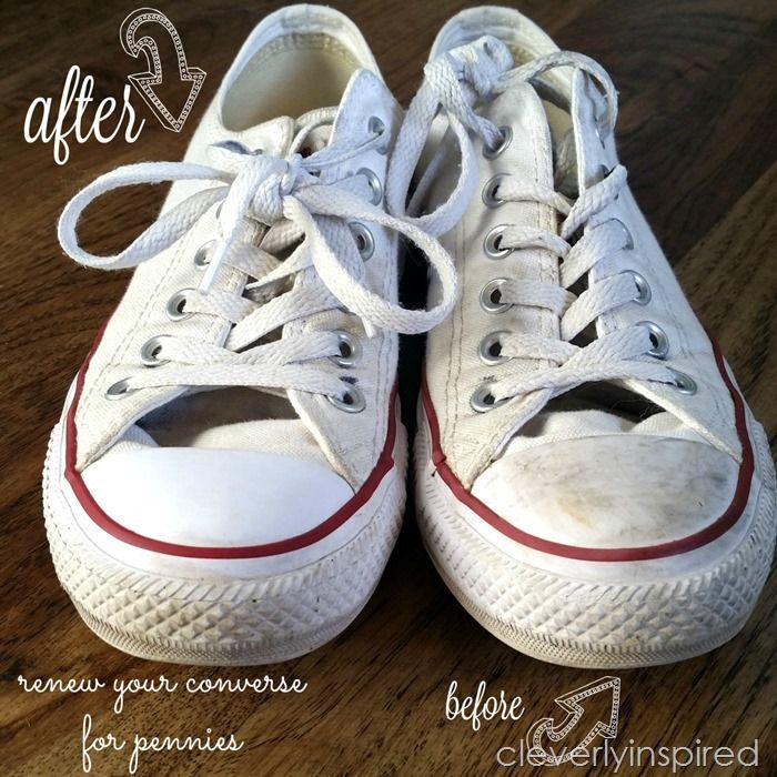 DIY shoe cleaner (how to remove scuff marks on converse) (Cleverly Inspired)