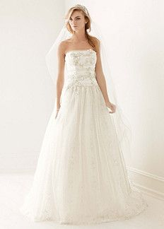Melissa Sweet Strapless Vintage Metallic Lace Ball Gown Style MS251057 In Store Online