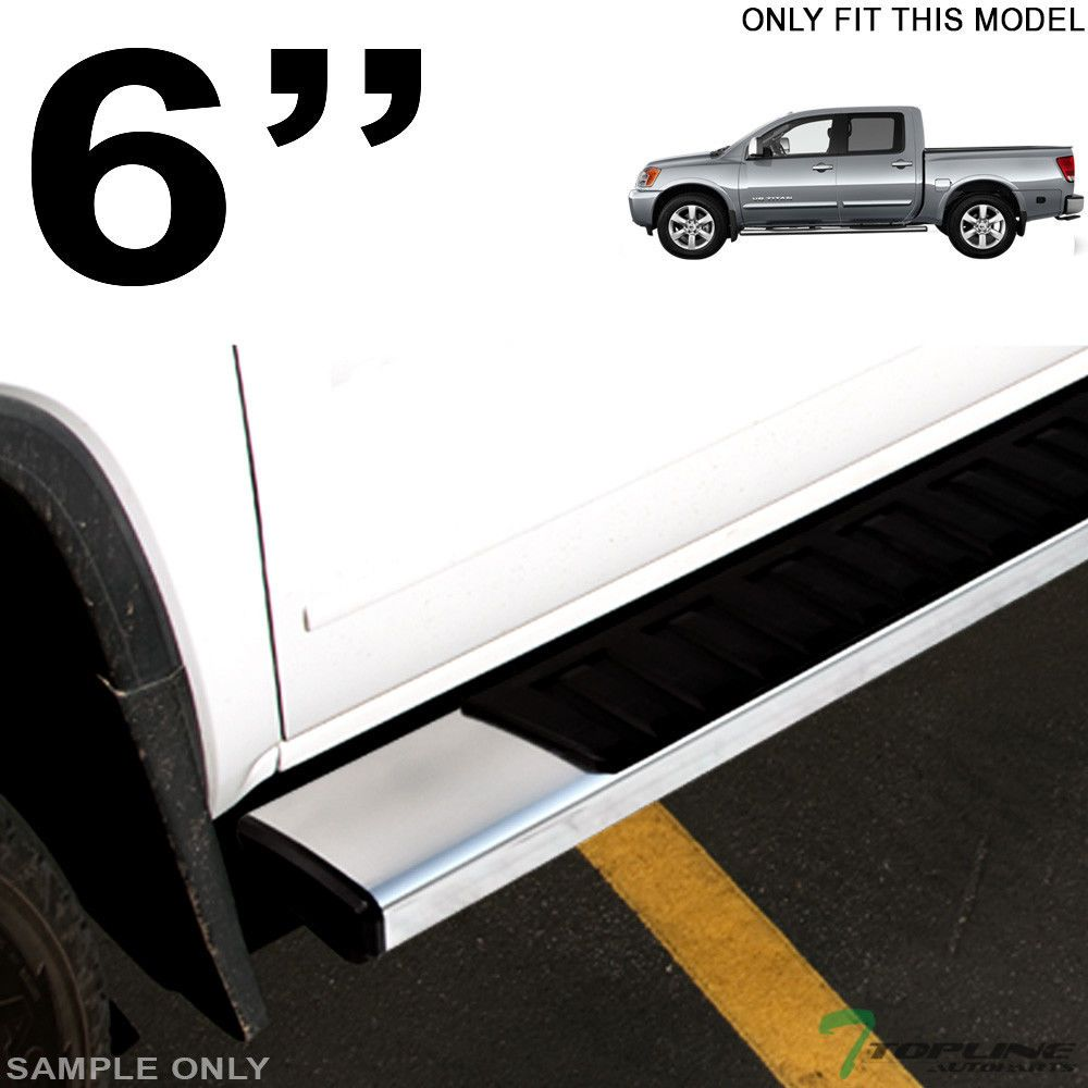 Oe Style Aluminum Side Step Rail Running Boards For   Nissan Titan