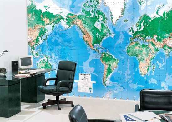 might be cool to put world map on the conference room sideperhaps