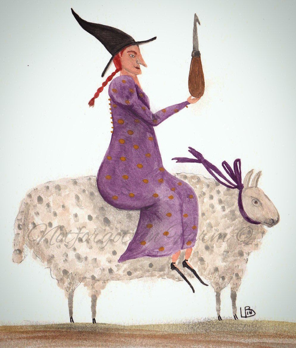 Image may contain outdoor Witch, Sheep