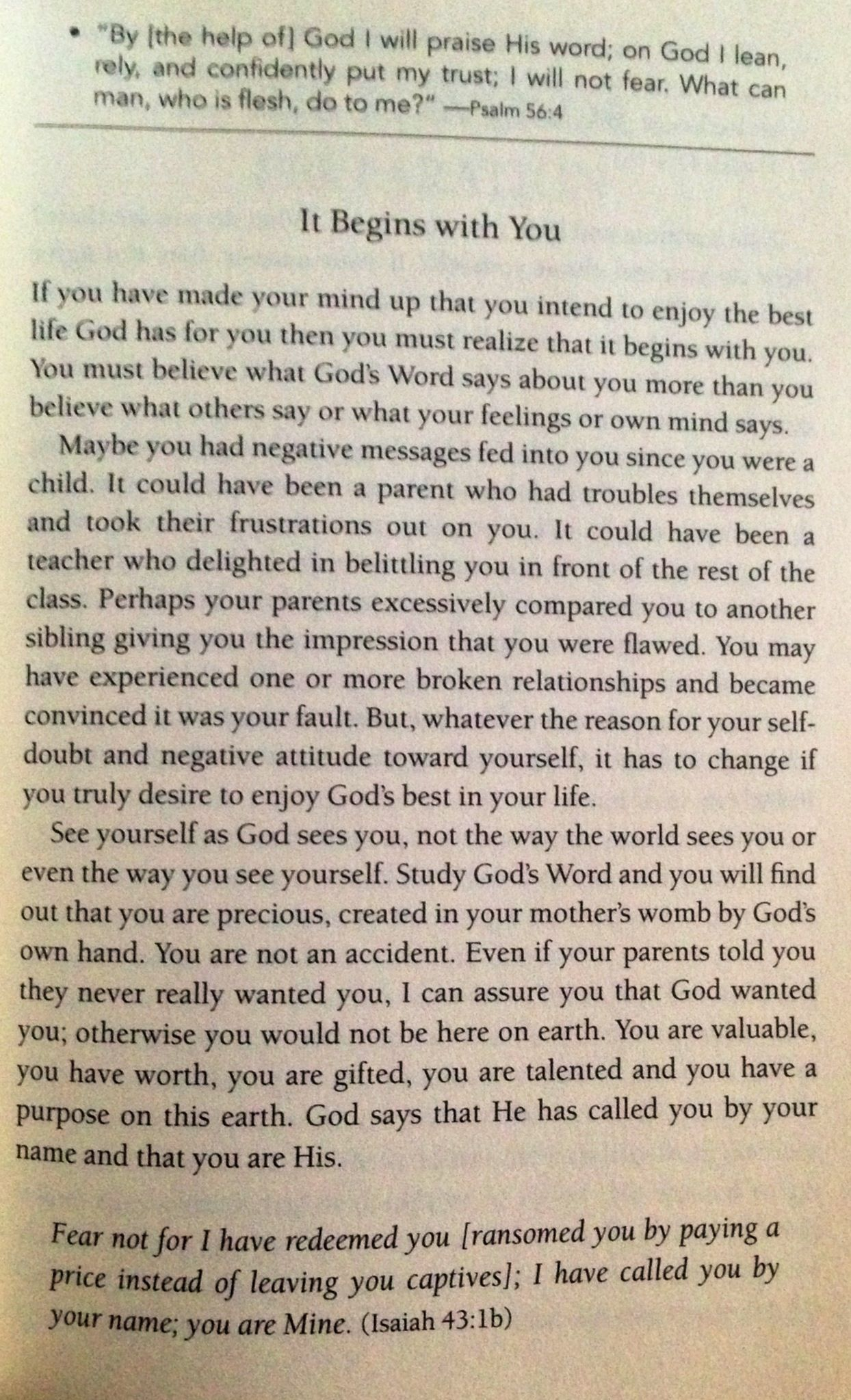 "It begins with you... -Joyce Meyer "" The Confident Woman"""