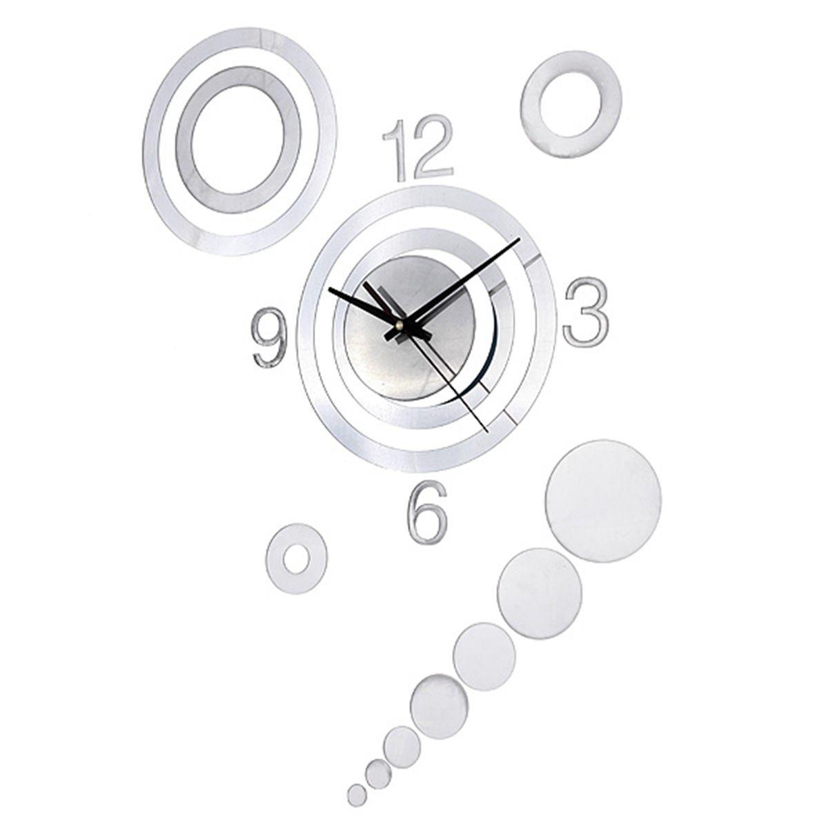 10 style diy 3d miroir horloge murale moderne decoration salon