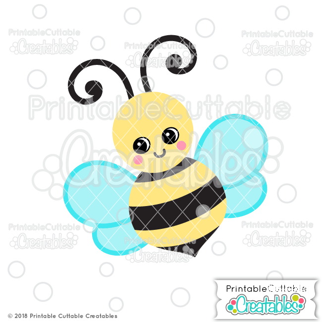View Bee Svg, Bee Dxf, Cuttable File Image