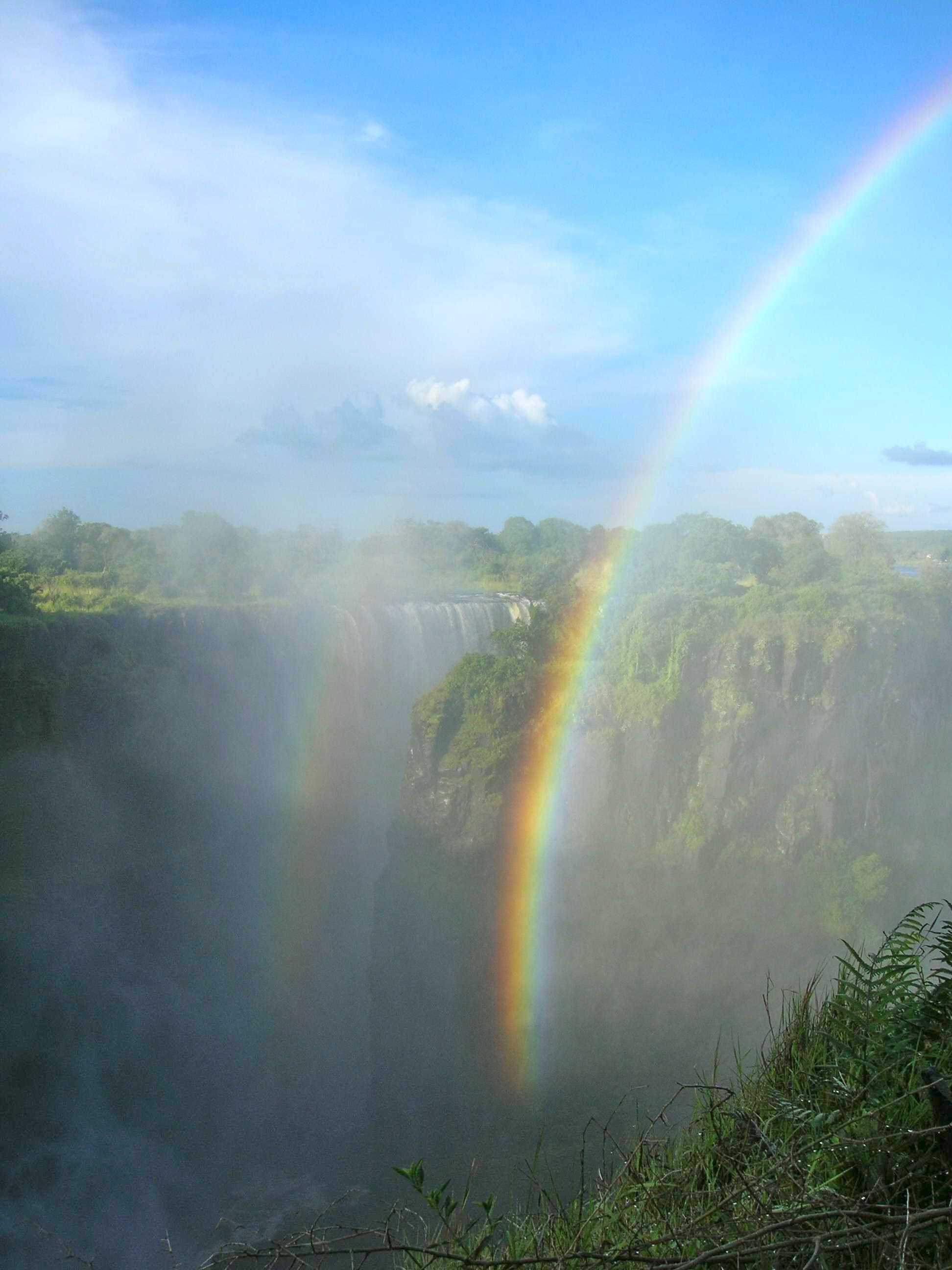 rainbow at Victoria Falls... 2006