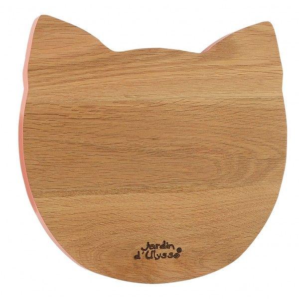 Planche à découper tête de chat  http://www.homelisty.com/cadeaux-deco-amoureux-chats/
