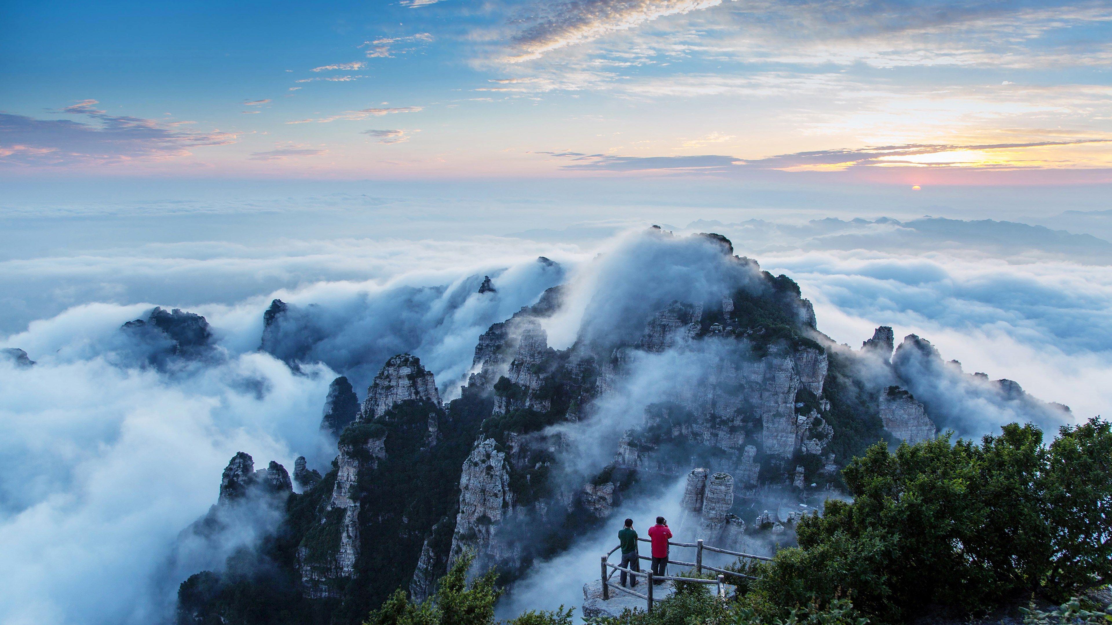 4k download wallpaper free (3840x2160) Пейзажи, Туман, Альпы