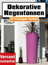So Bringt Ihr Farbe In Den Garten Dekorative Regentonnen In Trendingen Farben Obi Garten Baumarkt