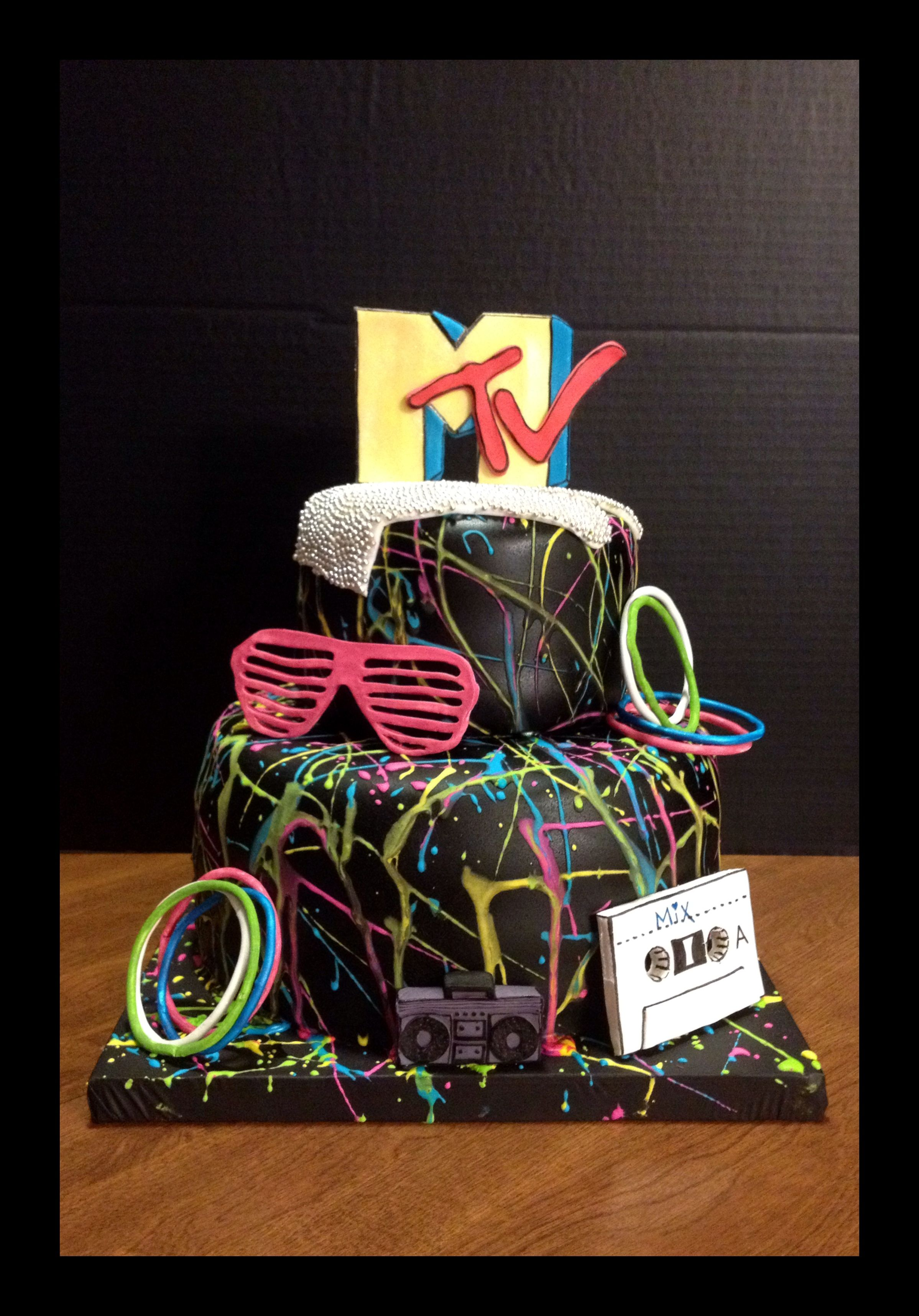 Stupendous 80S Cake By Pattibcakes Spicewood Tx With Images 80S Birthday Birthday Cards Printable Riciscafe Filternl