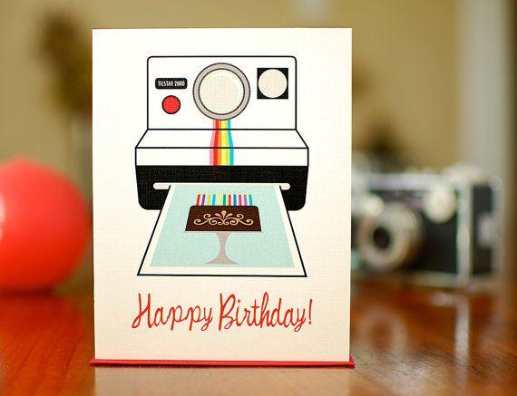 Shake It Like A Polaroid Vintage Camera Birthday Card On 100