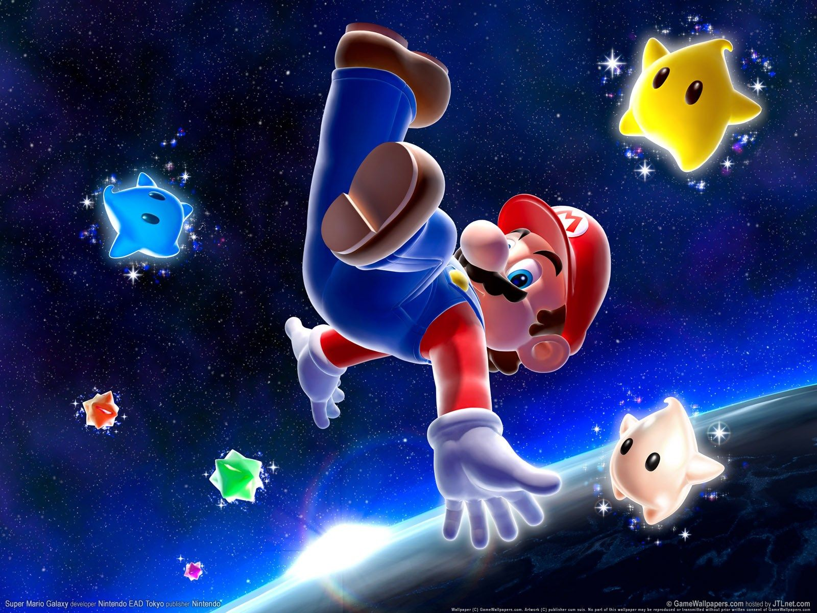 Collecting Star Bits! Super Mario Galaxy