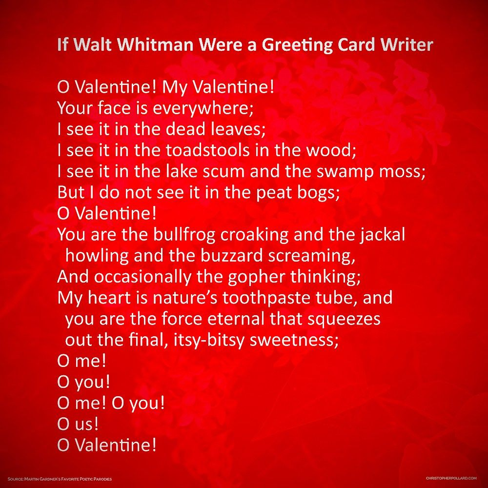 If Walt Whitman Were A Greeting Card Writer From Martin Gardners