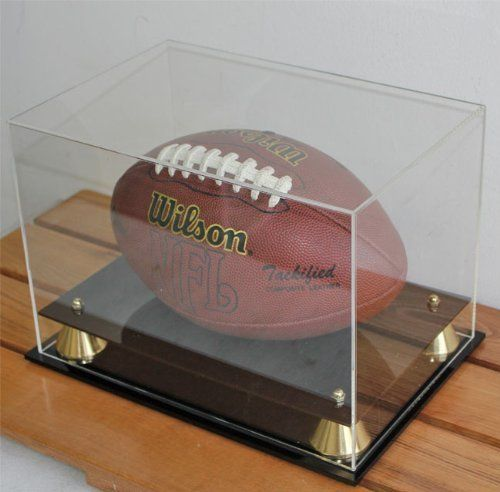 Football Display Case Holder With 40% UV Protection Acrylic Cover Awesome Football Display Stand Plastic