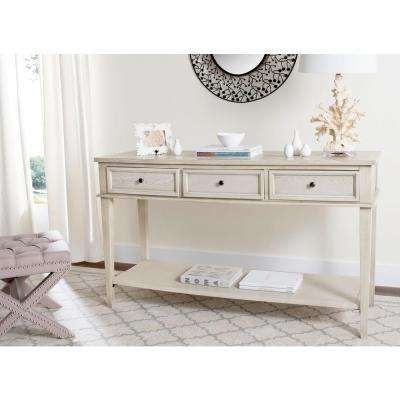 manelin white washed storage console table entry rh pinterest com