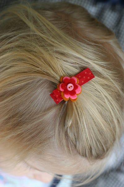 DIY Sweet & Easy Baby Hair Clip ⋆ Pretty Prudent