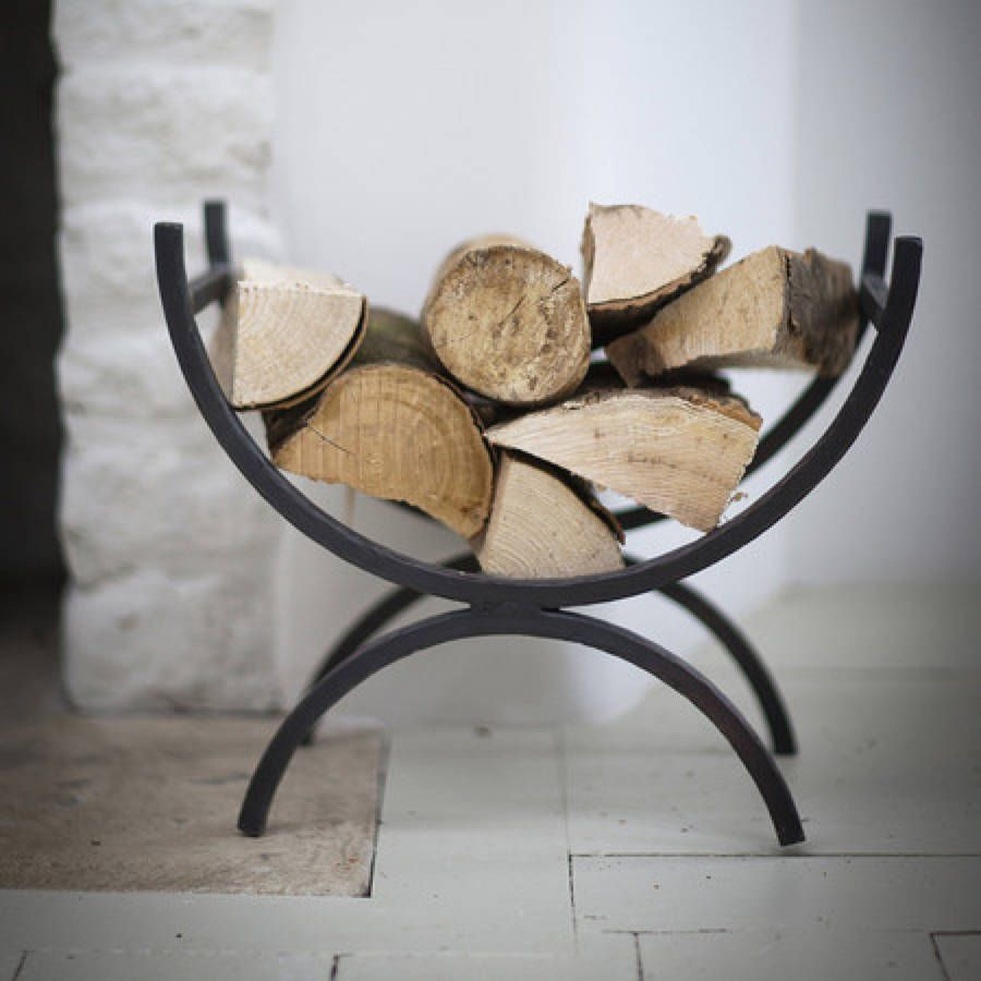 Metal Log Storage Rack #44 - Add Practical Style To Your Fireside With This Iron Log Holder.Crafted From  Wrought Iron