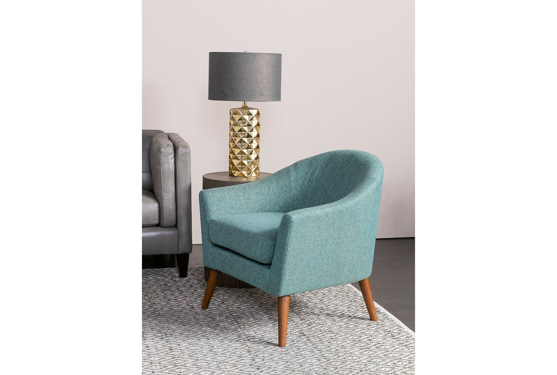 Finn Teal Accent Chair Living Spaces Big Comfy Chair Leather