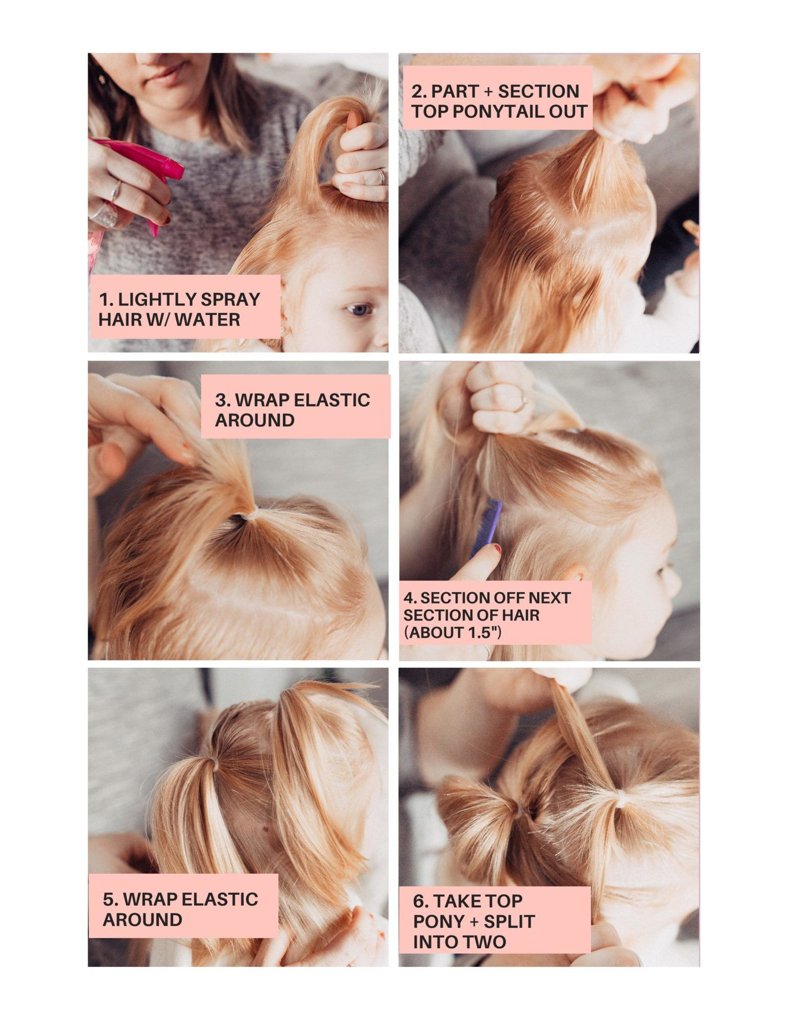 Easy Bubble Ponytail Tutorial For Toddler In 2020 Bubble Ponytail Toddler Hairstyles Girl Fine Hair Toddler Hairstyles Girl