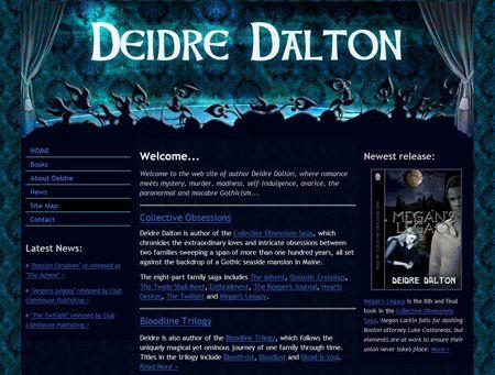 New design for official web site. http://deidredalton.com/
