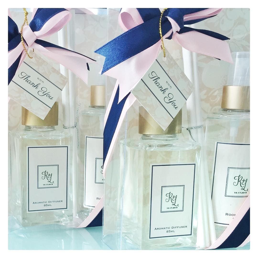 Personalized Navy Blue Blush Wedding Favors Made By Bc Fragrance