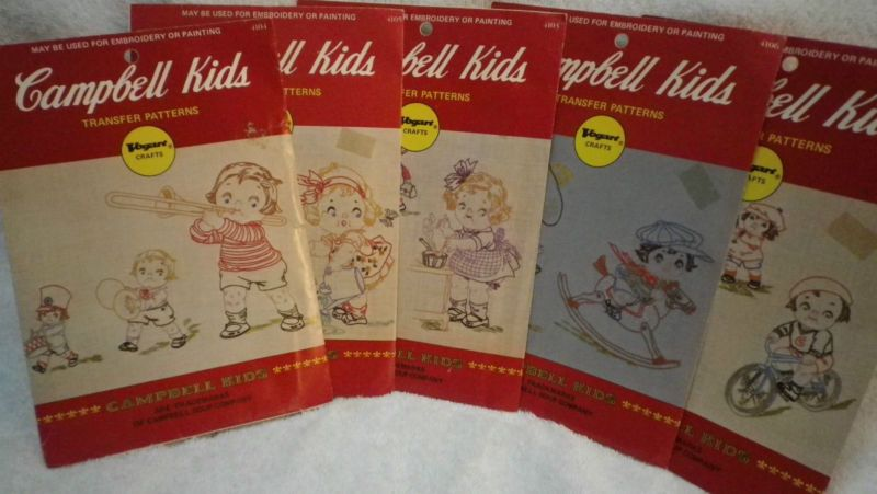 Vintage VOGART CAMPBELL KIDS Embroidery Transfer Patterns