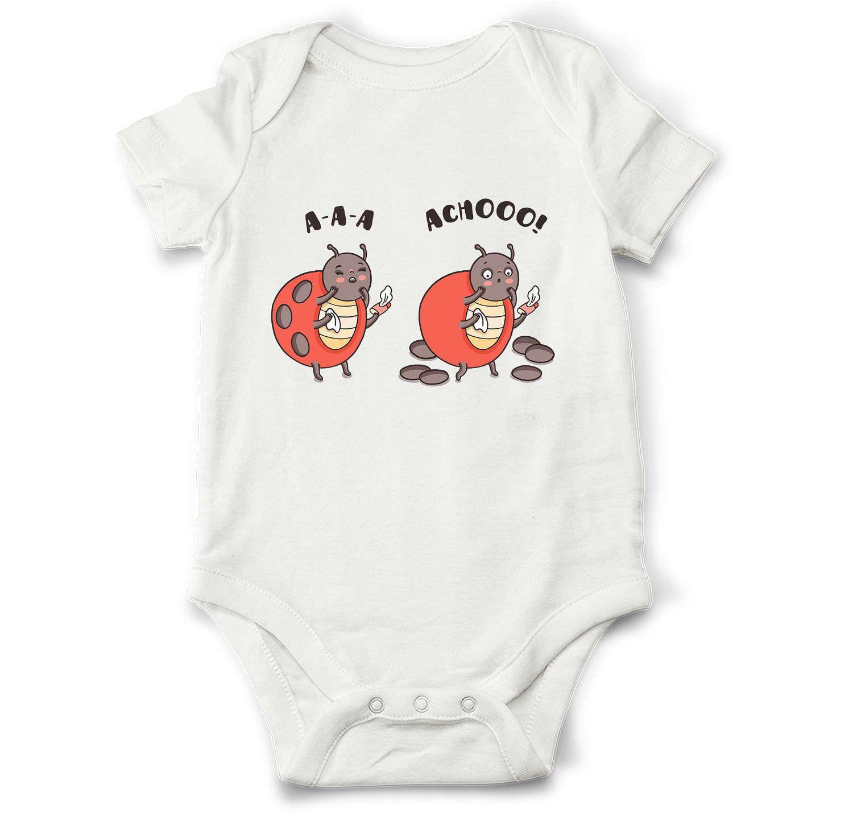 Funny baby onesie Sneezing ladybug newborn baby clothes unique