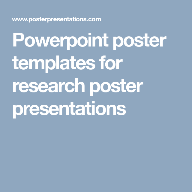 Powerpoint poster templates for research poster presentations ...