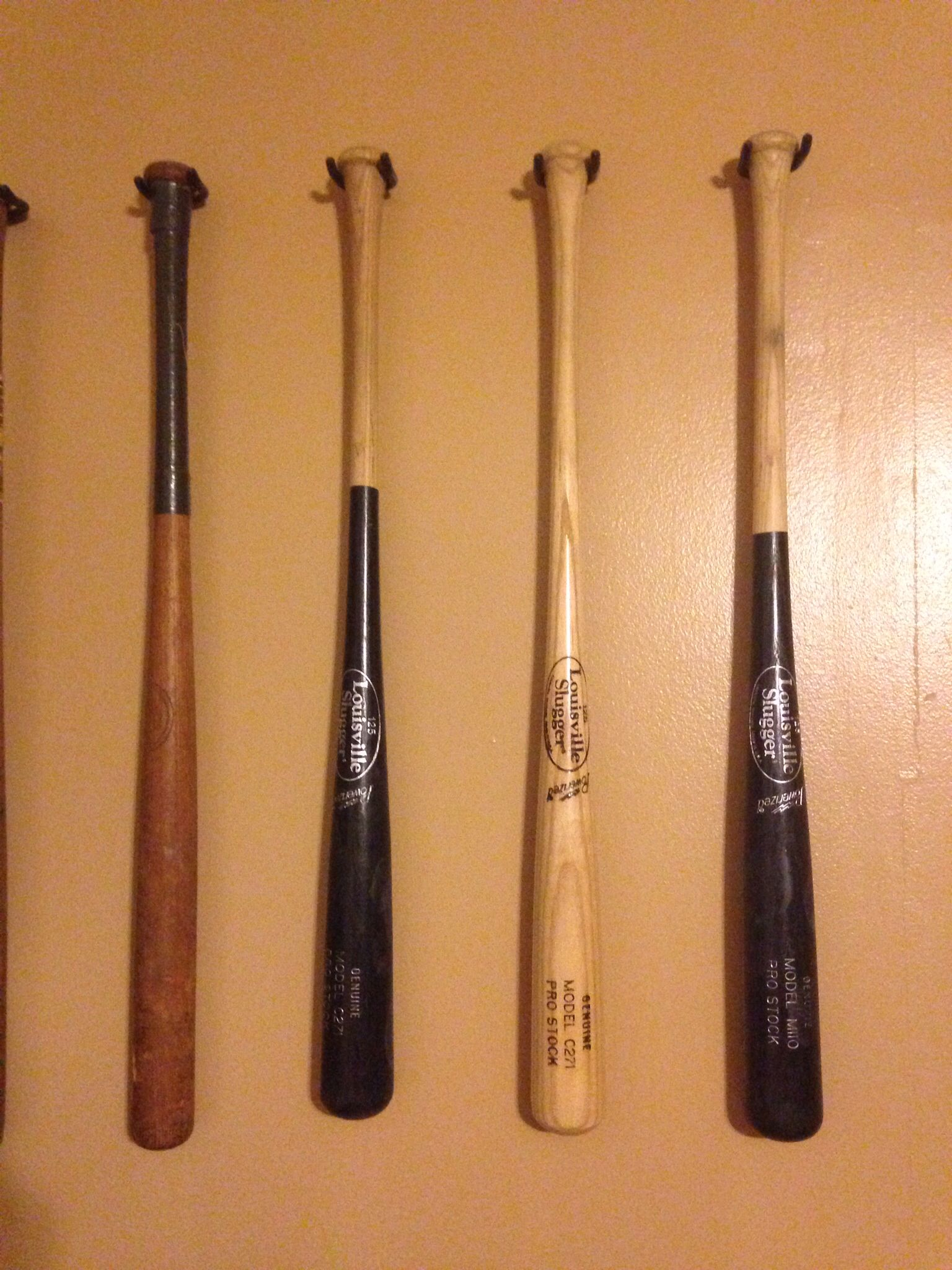 Hang Baseball Bats Using The In