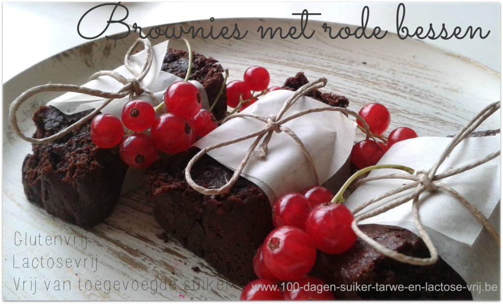 Gluten- en lactosevrije Brownies met rode bessen