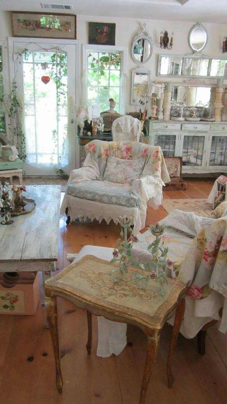 shabby chic living room ideas to steal - Shabby Chic Living Room