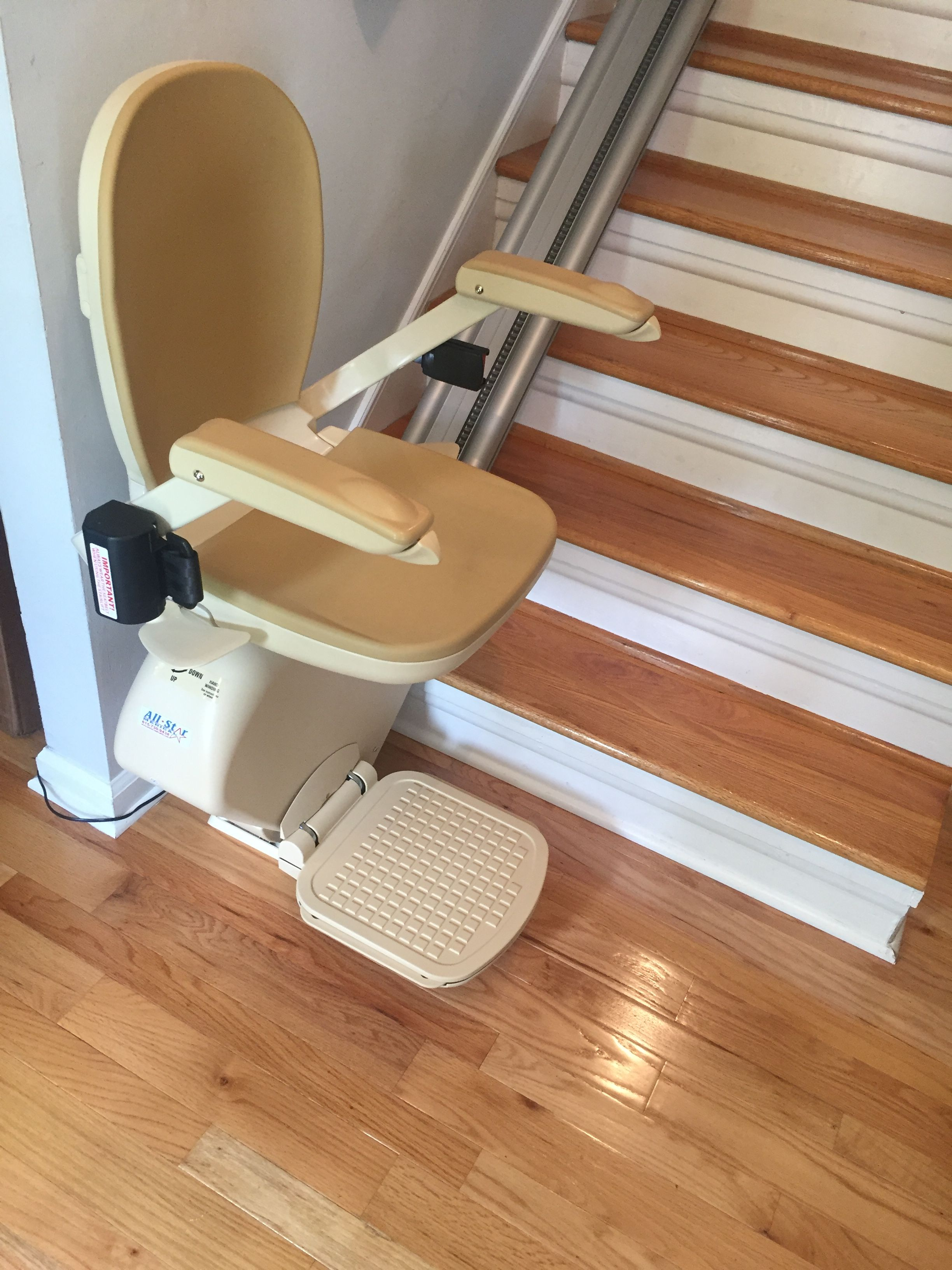 A recent stair lift install from all star medical call