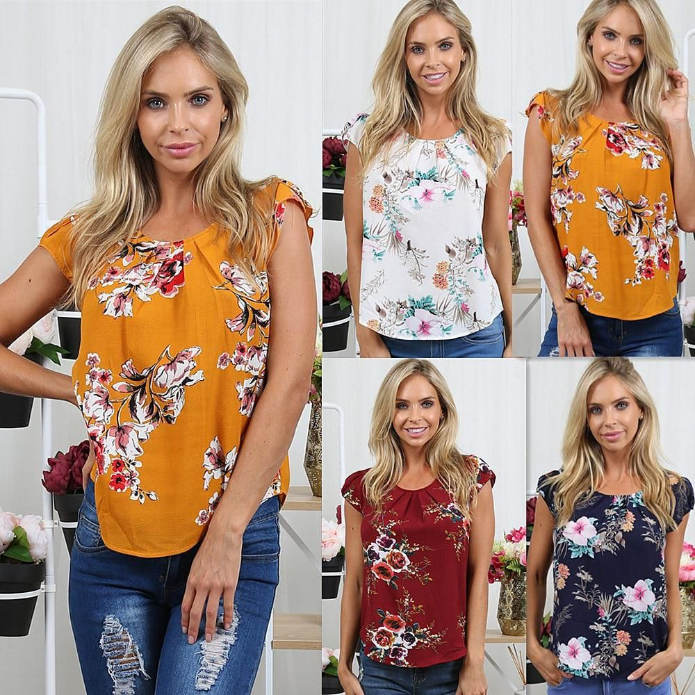 37787a9cd9a17 AVODOVAMA M 2018 Summer Women Casual Tops Blouse Ladies Fashion ...
