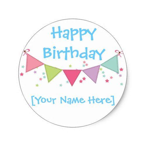 happy birthday customizable sticker sheet boy s birthday party