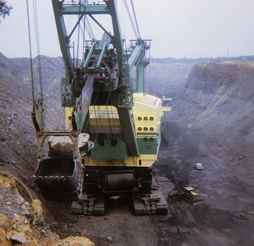 hydraulic Coal strip shovel mine