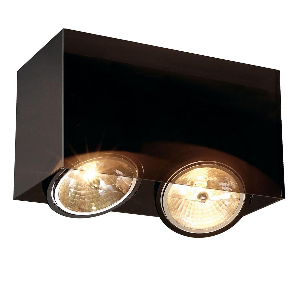 SLV Lighting Acrylic Box double AR111 | SLV Ceiling Luminaire ... for Ceiling Double Spot Light  199fiz