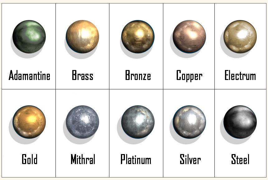 D D 5e Metals Metal Electrum D D