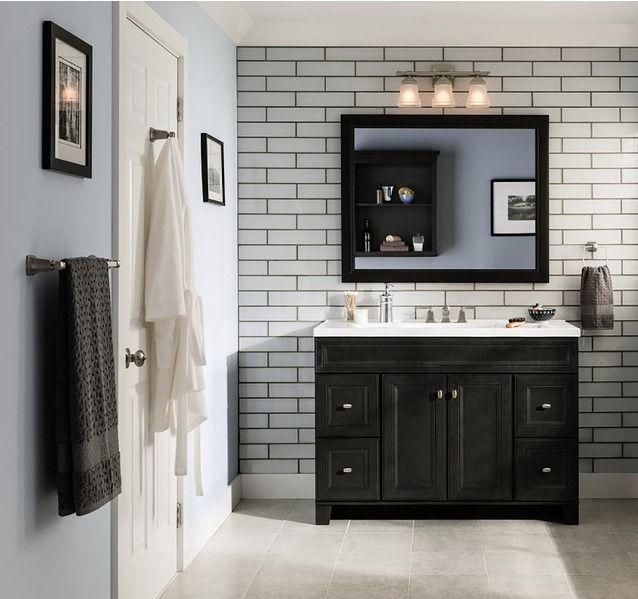 Diamond Freshfit Goslin 48 In Storm Bathroom Vanity Cabinet Lowes Com Bathroom Vanity Trends Bathroom Vanity Designs Simple Bathroom