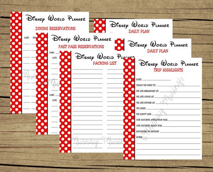 FREE Printable Disney World Vacation Planner #freeprintable - vacation schedule template