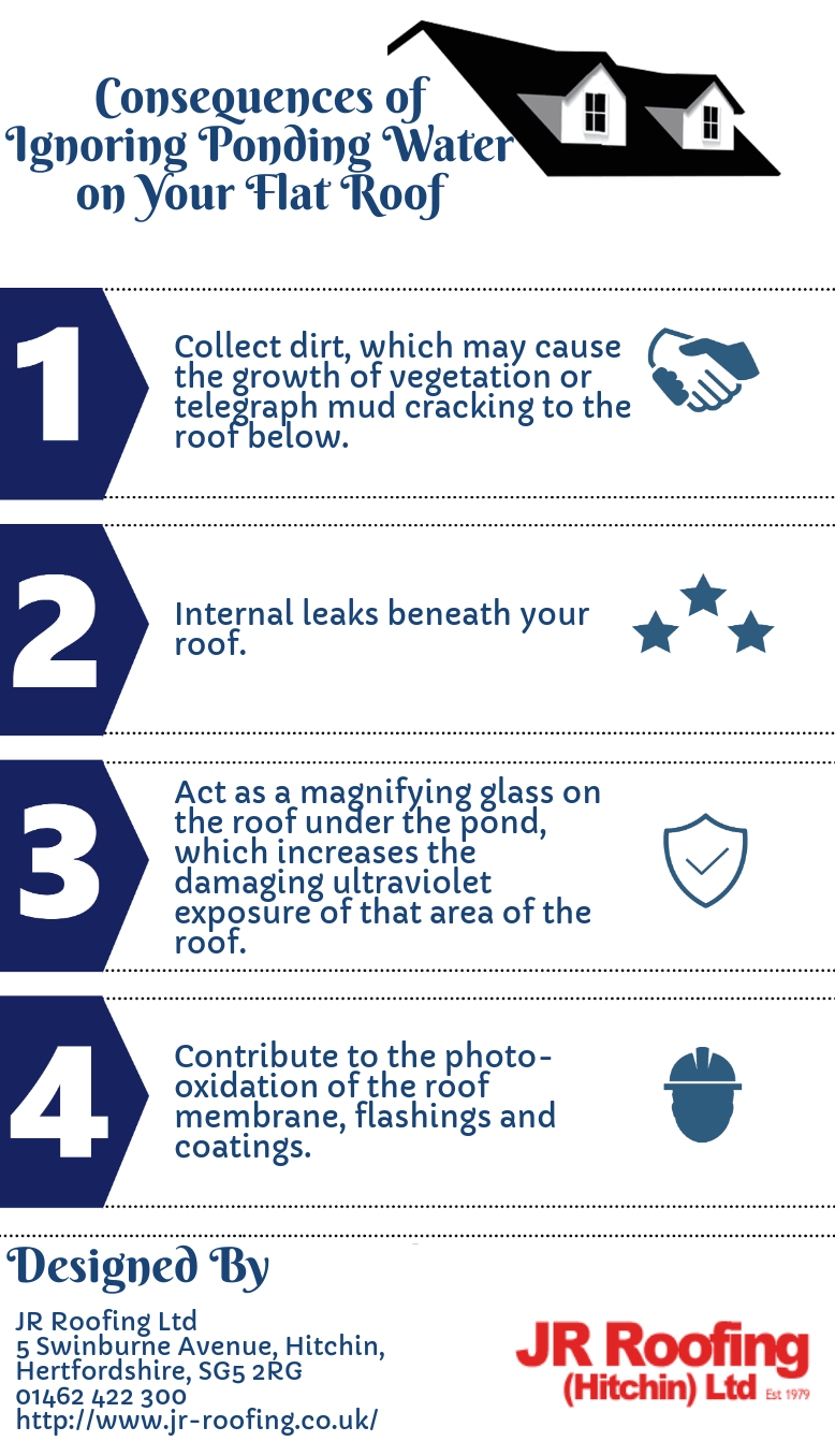 Consequences Of Ignoring Ponding Water On Your Flat Roof Roofer Roofing Roof Repair