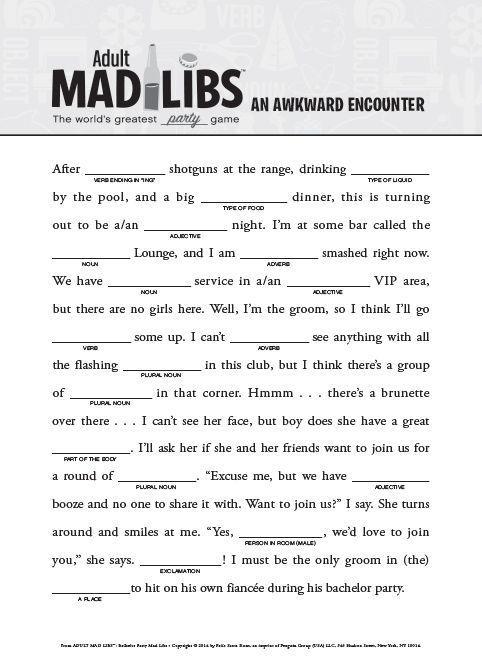 Znalezione obrazy dla zapytania mad lib script | mad lib script