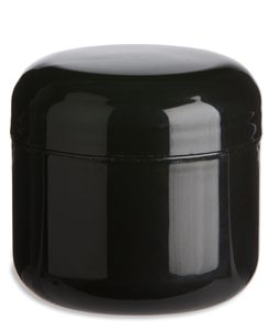 2 Oz Double Wall Black Plastic Jar With Dome Lid Plastic Jars Jar Double Walled