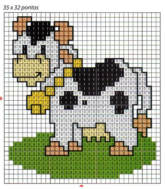 Clube Vaquinha Malhada / Club Spotted Fluffy Cow: A Vaquinha da Semana / The Little Cow of the Week : Esquema de Ponto Cruz com Vacas / Scheme for Cross Stitch with Cows
