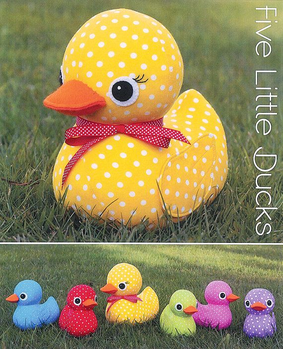 pattern five little ducks soft sculpture stuffed toy softie rh pinterest com