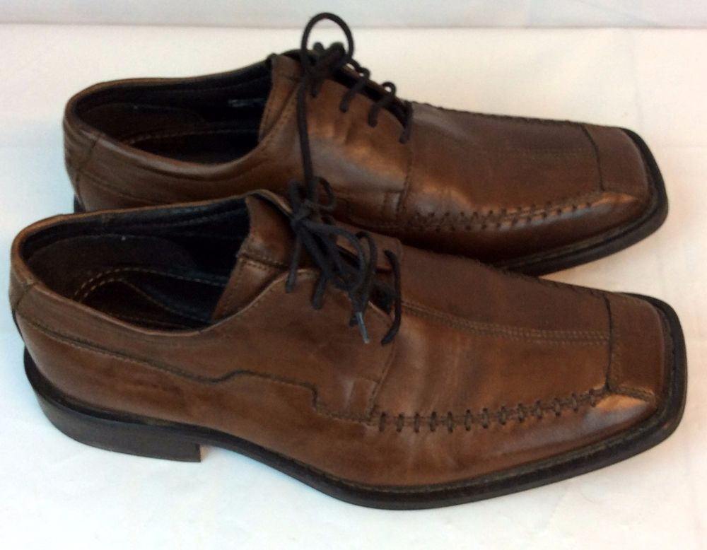 92c2c5df69b Structure Shoes Brown Leather Men 7.5 D Laces Oxford Made in Italy  Stitching  Structure  Oxford