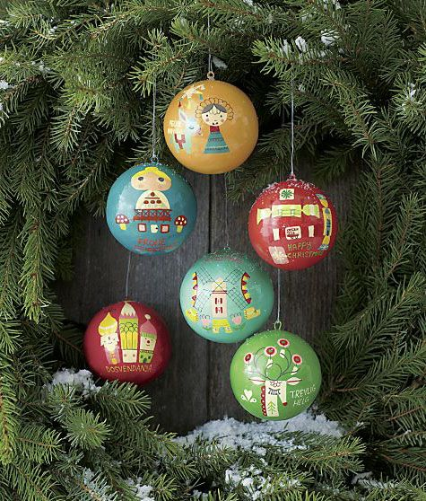 Suzy Ultman S Holiday Ornaments For Crate Barrel Lilla Rogers Holiday Christmas Ornaments Christmas Tree Ornaments