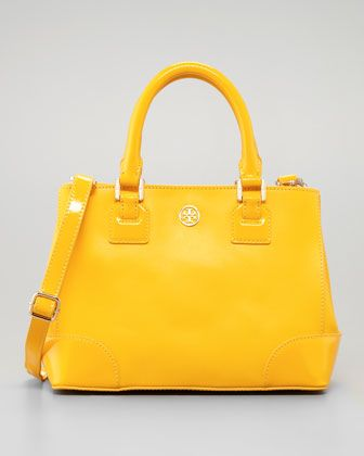 e559908167 Robinson Mini Square Tote Bag, Yellow by Tory Burch at Neiman Marcus. I am  LOVING yellow for spring!