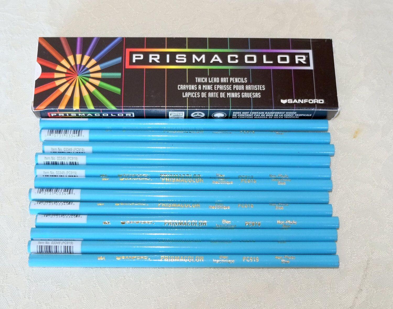 12 Prismacolor Non Photo Blue, artist grade, soft thick, color pencils door Artpencils op Etsy https://www.etsy.com/nl/listing/201827204/12-prismacolor-non-photo-blue-artist