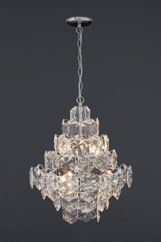 Buy charleston 6 light chrome and clear chandelier from the next uk buy charleston 6 light chrome and clear chandelier from the next uk online shop aloadofball Images